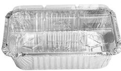 Bandeja alumínio D6FS 500ml 165x124x43 tampa pet WYDA c/50
