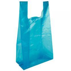 Sacola plastica média 38x48 Azul c/2,5KG