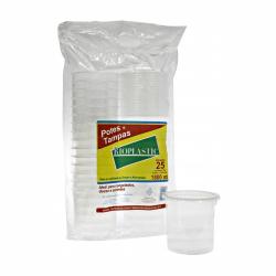 Pote plastico redondo 1800ml c/tampa Rioplastic C/200