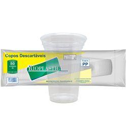 Copo PP 330ml Liso Rioplastic Cristal c/1000