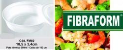 Marmitex Isopor FM50 Mini 500ml com tampa Fibraform  c/100